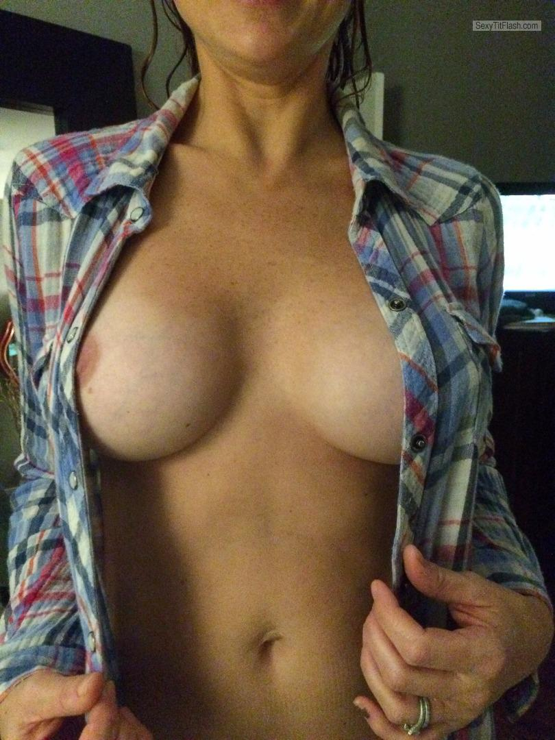 Tit Flash: Wife's Small Tits - MyMILF from United States